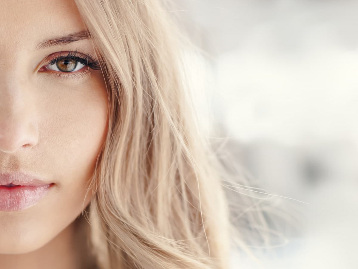 Healthy Skin Blonde Girl
